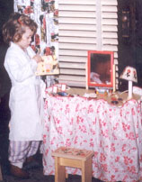 Dressing dolls, dressing table